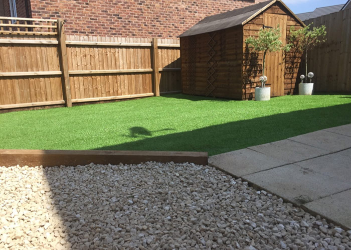 Artificial lawn installed in Reading, Berkshire